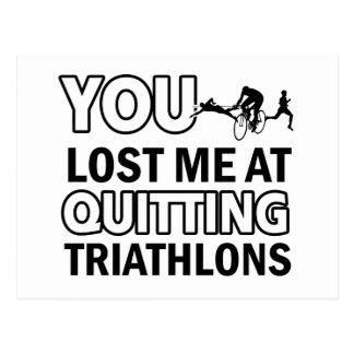 Cool triathlons designs postcard