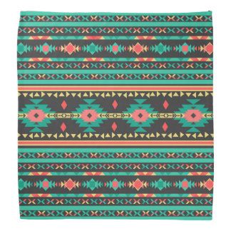 Cool tribal ethnic Navajo geometric pattern Bandana