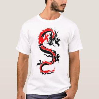 Cool Tribal Red Dragon Tattoo Designs Custom Art T-Shirt