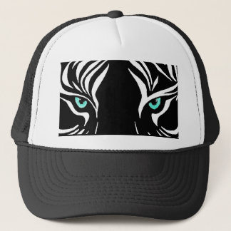 Cool Tribal White Tiger with Green Eyes Hat