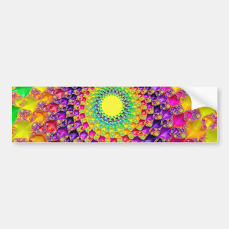 Cool Trippy Hippie Psychedelic Abstract Fractal Bumper Sticker