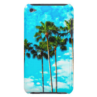 Cool Tropical Palm Trees Blue Sky Barely There iPod Cases