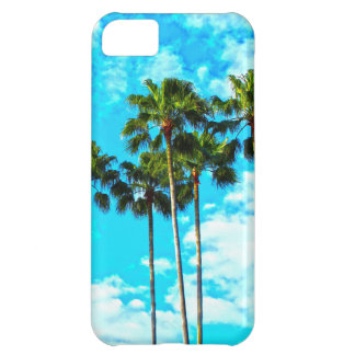 Cool Tropical Palm Trees Blue Sky Cover For iPhone 5C