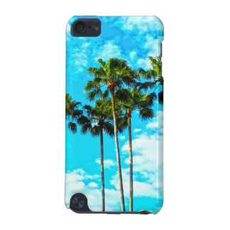 Cool Tropical Palm Trees Blue Sky iPod Touch (5th Generation) Cases