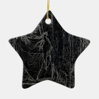 Cool Tshirt Ceramic Star Ornament
