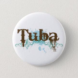 Cool Tuba Grunge Music Button