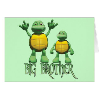 Cool Turtles Big  Brother Note Card