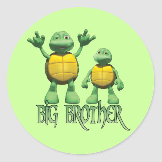 Cool Turtles Big Brother Round Sticker
