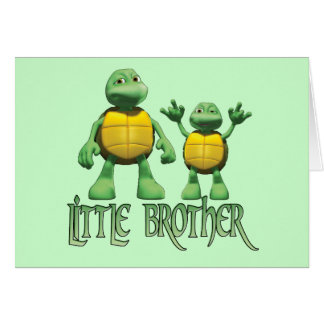 Cool Turtles Little Brother Greeting Cards