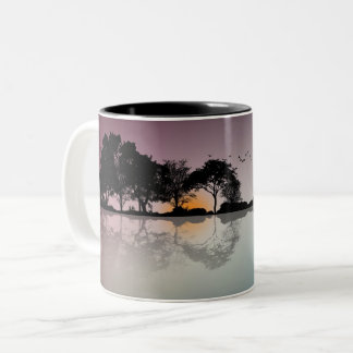 Cool Twilight Horizon Guitar Reflection Coffee Mug