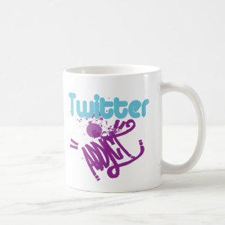 Cool Twitter Addict Custom Graffiti Art Remix Mug
