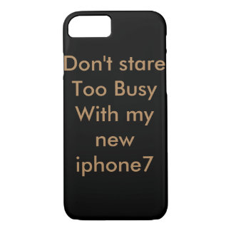 Cool typography black iPhone 7 cover