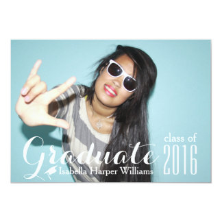 Cool Typography Graduation Photo Class of 2018 Card