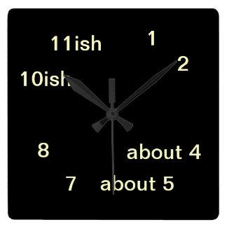 Cool Uber Geek Hipster Black One-ish Clock 3