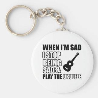 Cool Ukulele designs Keychain