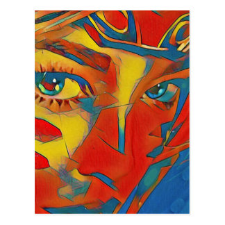 Cool Uncommon Contemporary Artistic Eyes Postcard