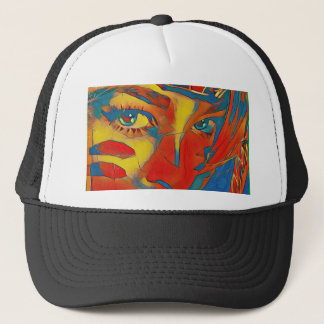 Cool Uncommon Contemporary Artistic Eyes Trucker Hat
