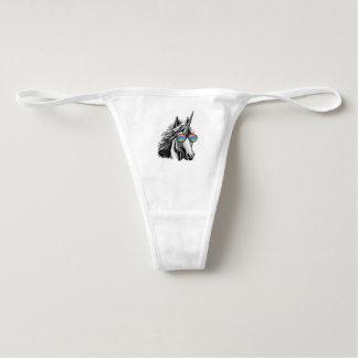 Cool unicorn with rainbow sunglass underwear