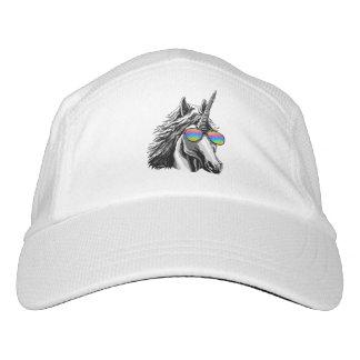 Cool unicorn with rainbow sunglasses hat