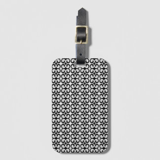 Cool Unique Black and White Pattern Bag Tag