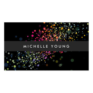 COOL & UNIQUE BLACK CONFETTI PACK OF STANDARD BUSINESS CARDS