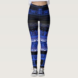 Cool unique Blue Designer Leggings