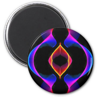 Cool Unique Blue Pink Purple Fluorescent Abstract 2 Inch Round Magnet