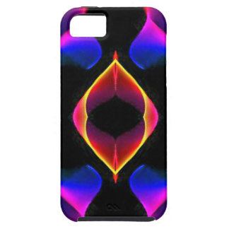 Cool Unique Blue Pink Purple Fluorescent Abstract Case For The iPhone 5