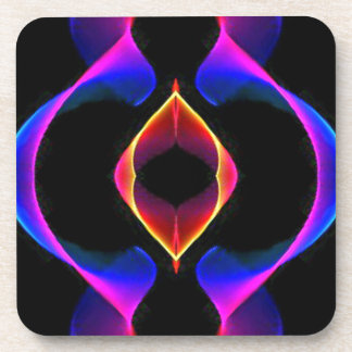 Cool Unique Blue Pink Purple Fluorescent Abstract Drink Coaster