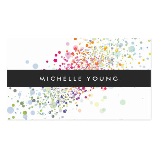 COOL & UNIQUE COLORFUL CONFETTI PACK OF STANDARD BUSINESS CARDS