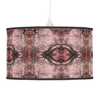 Cool Unique Pink and Black Abstract Pattern Lamp