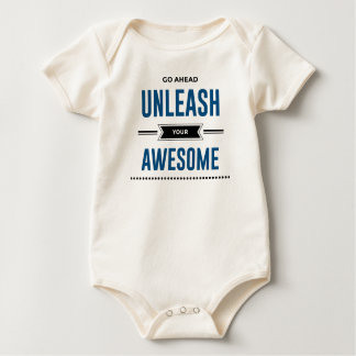 Cool Unleash Your Awesome Baby Bodysuit