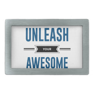 Cool Unleash Your Awesome Rectangular Belt Buckle