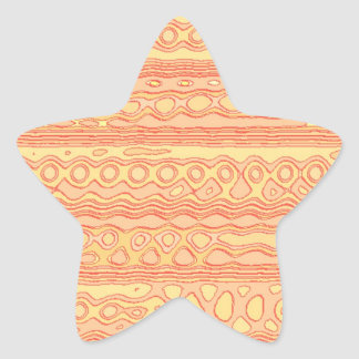 Cool Unusual strange pattern Star Sticker