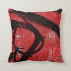 Cool Urban Red Graffiti Throw Pillow