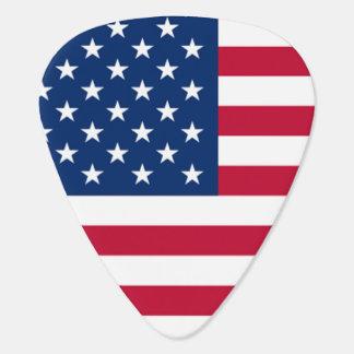 Cool USA American Flag Stars and Stripes Guitar Pick