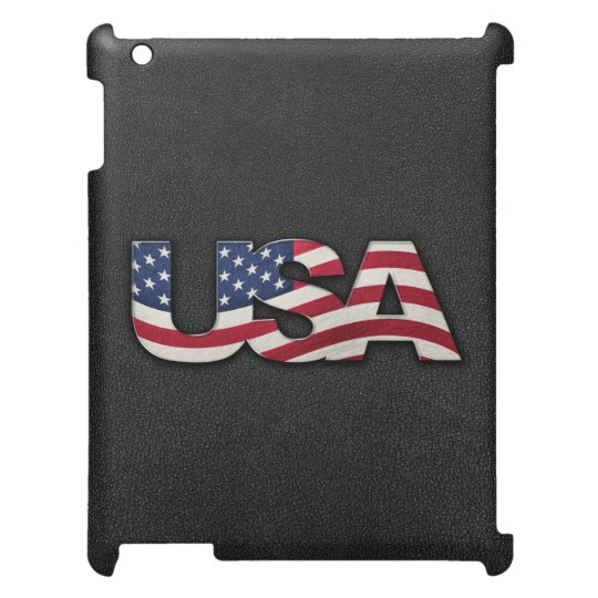 Cool USA signage with real flag iPad Case