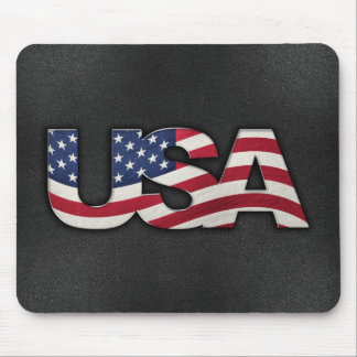 Cool USA signage with real flag Mouse Pad