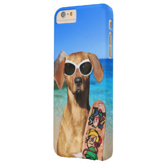 Cool vacation surfer dog, Rhodesian Ridgeback Barely There iPhone 6 Plus Case