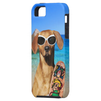 Cool vacation surfer dog, Rhodesian Ridgeback Case For The iPhone 5
