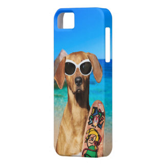 Cool vacation surfer dog, Rhodesian Ridgeback iPhone 5 Cases