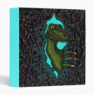 Cool velociraptor dinosaur binder design