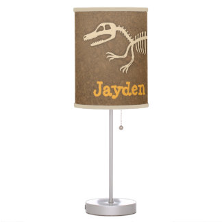 Cool Velociraptor Dinosaur Bones Boys Room Decor Table Lamp