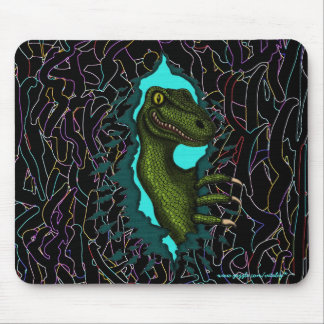 Cool velociraptor dinosaur mousepad design