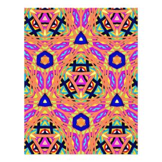 Cool Vibrant Pastel Festive Pattern Letterhead
