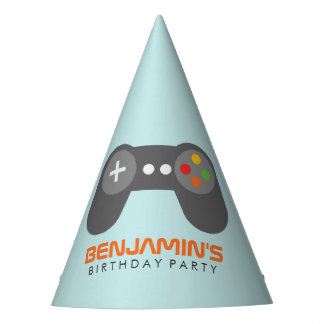Cool Video Game Controller Kids Birthday Party Hat