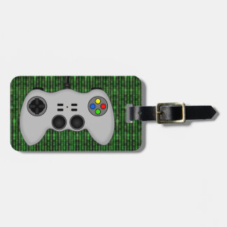 Cool Video Game Controller Vector in Grey Luggage Tag