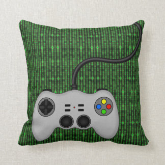 Cool Video Game Controller Vector in Grey Throw Pillow
