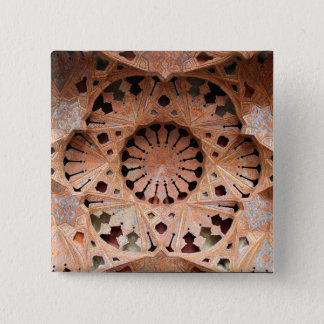 Cool Vintage Ceiling Art in Iran [Photo 174.4] 2 Inch Square Button