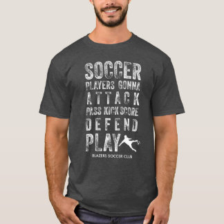 Cool Vintage Distressed Soccer Words Personalized T-Shirt